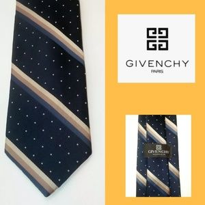 Vintage Givenchy Monsieur 100% Silk 57""